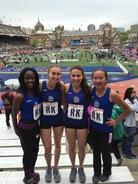 Track Penn RElays girls varsity 4x400 2