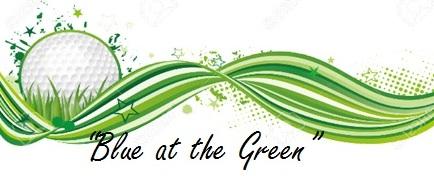 Blue at the Green draft logo