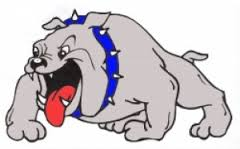 bulldog logo blue collar